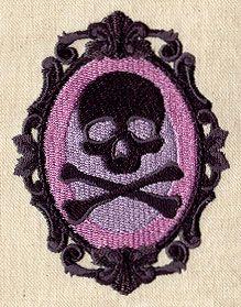 Awesome machine embroidery patterns: skulls, pirates, steampunk. www.urbanthreads.com
