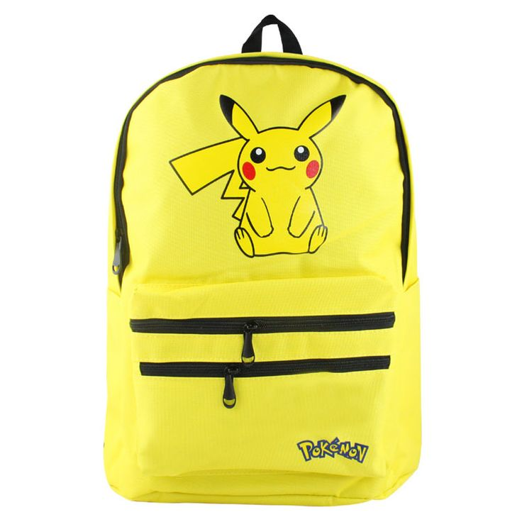 2017 new game fans pokemon backpack Pokemon Pikachu yellow backpacks daily use school bag for game fans  ab217