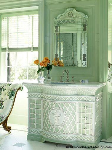 Sea Foam Green Laundry Room