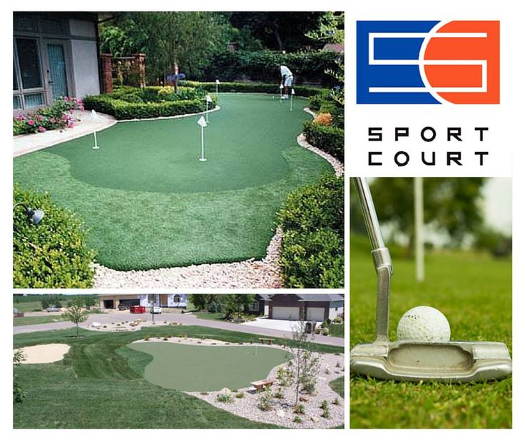 Backyard putting green to improve your stoke without leaving the house!