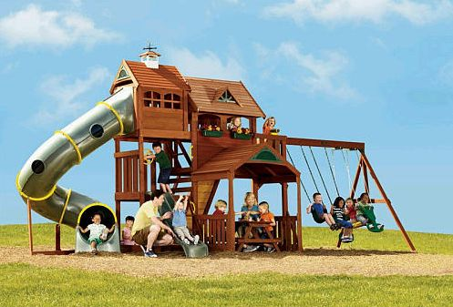 Awesome swingset...great fun for the kids!