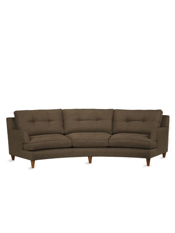 Keating Curved Sofa Benchmade By Brownstone Home