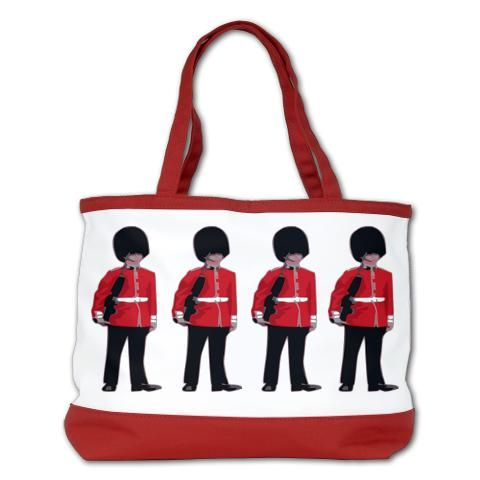 """Beefeater Congo Line Shoulder Bag - A lineup of London Tower Guards!  $72.99  On your next pub night, why not take your own Beefeater Congo Line with you! Keep your bag well guarded!     http://www.cafepress.com/britshop.865438032    This bag is cute, functional & durable, and you'll want to use it everyday. The bag lets you stash your cellphone, wallet, keys and more with 3 inner pockets, including a zippered pocket!•24"""" straps (1"""" wide)  •15"""" W x 9.5"""" H x 6"""" D"""