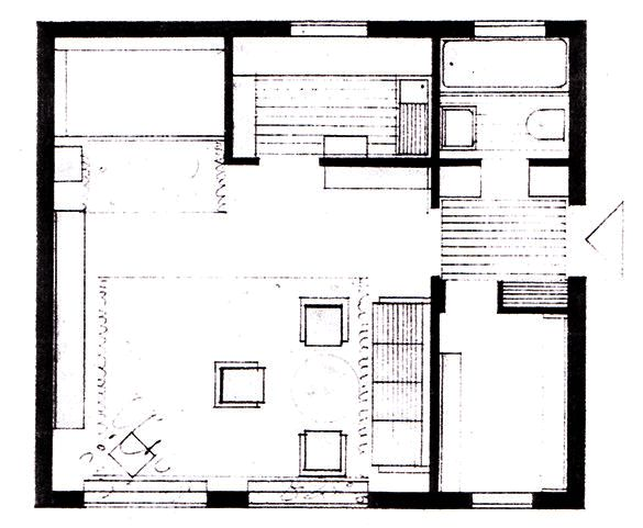 Studio flat floor plan house plans pinterest - Studio house plans ...