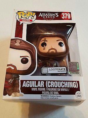 NIB!!! POP! #379~~Assassin's Creed Figure~Aguilar( Crouching), LootCrate Jan'17!