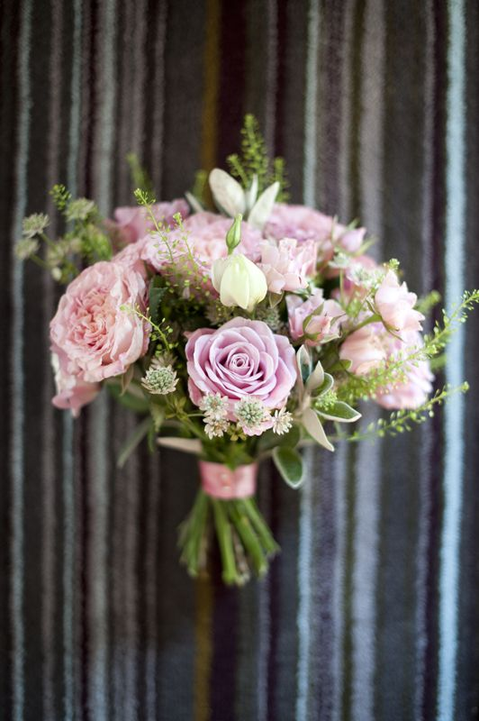 Image by Source Images. Wedding bouquet. pink roses. hand tied bouquet