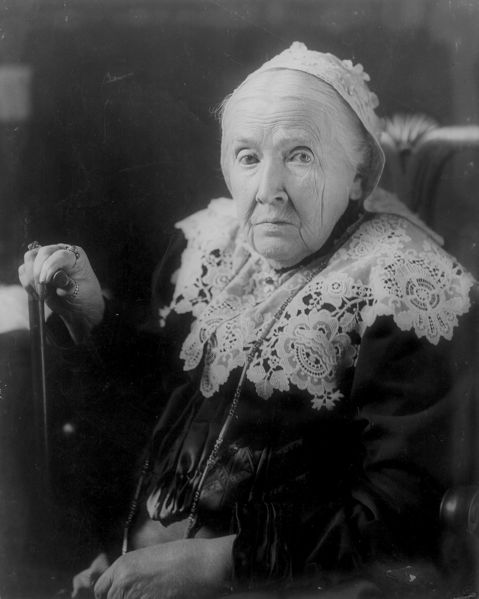 """Julia Ward Howe -wrote the words to  """"The Battle Hymn of the Republic"""" .She was inspired by her abolitionist work . The song was popular in the union during the civil war. After being widowed she worked tirelessly for womens sufferage . She  became a pacifist because of her horror at the Civil War carnage."""