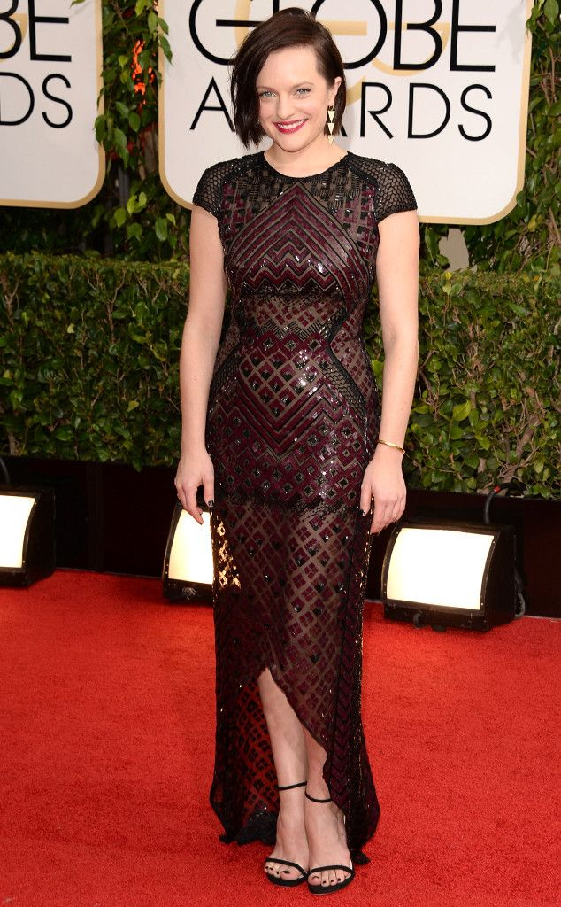 One of my faves tonight and I ADORE Top of the Lake!!!! Elisabeth Moss from 2014 Golden Globes: Red Carpet Arrivals | E! Online
