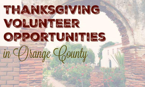 Thanksgiving volunteer opportunities in Orange County