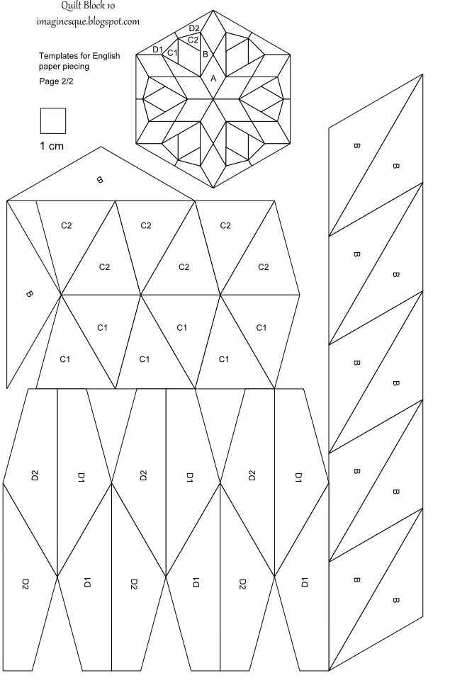 De 25 bedste id er inden for paper piercing patterns p for Quilting hexagon templates free