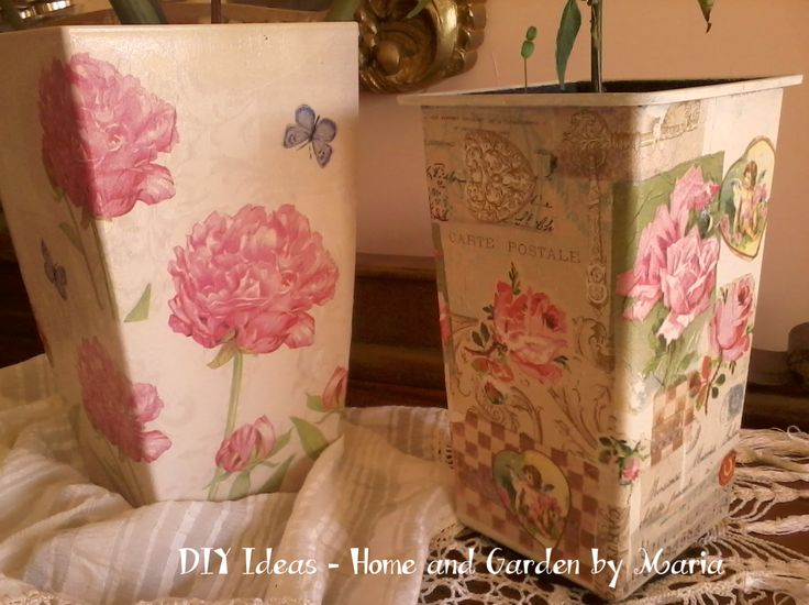 DIY Ideas - Home and Garden by Maria: Decoupage - Ντεκουπάζ σε Κασπώ.