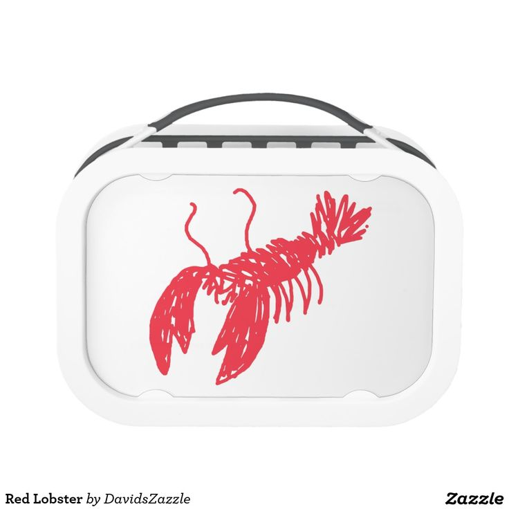 Red Lobster Lunch Box  Search the name of this product in the search bar on my Zazzle product page to find all products with this design!  #lobster #illustration #design #red #line #sketch #drawing #sketchy #ocean #sea #life #creature #claw #crawl #nature #planet #earth #chic #modern #contemporary #buy #sale #zazzle #cool #sweet #neat #swim #swimming #under #the #fish #fishing #food #foodie #eat #delicious #placemat #kitchen #dining #office #supply #lunch #work #worker #working