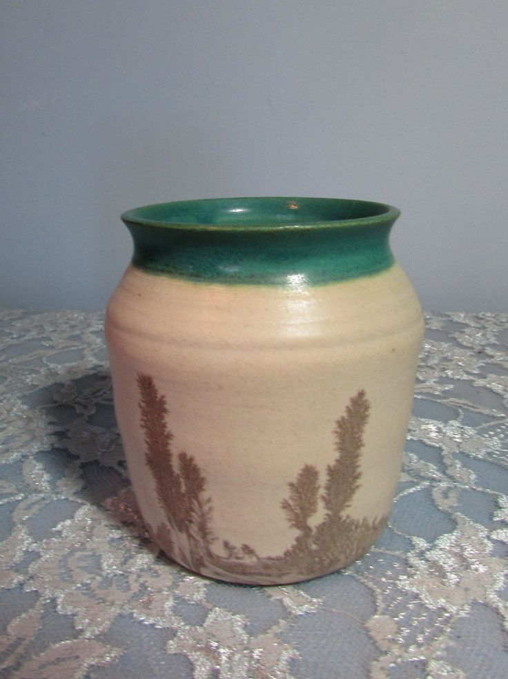 Southwestern Planter, Signed Dated by Artist c1974, Pottery Vase by BeanzVintiques on Etsy