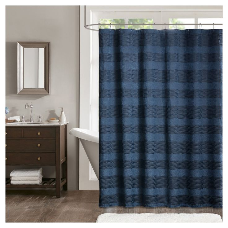 25 Best Ideas About Navy Blue Shower Curtain On Pinterest Blue Bathroom Interior Blue