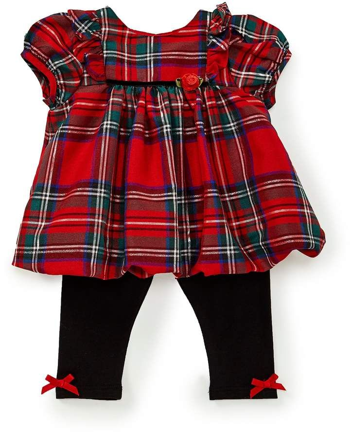 680db0157be Pastourelle by Pippa   Julie Baby Girls Newborn-24 Months Plaid Fit-And-Flare  Dress   Leggings Set