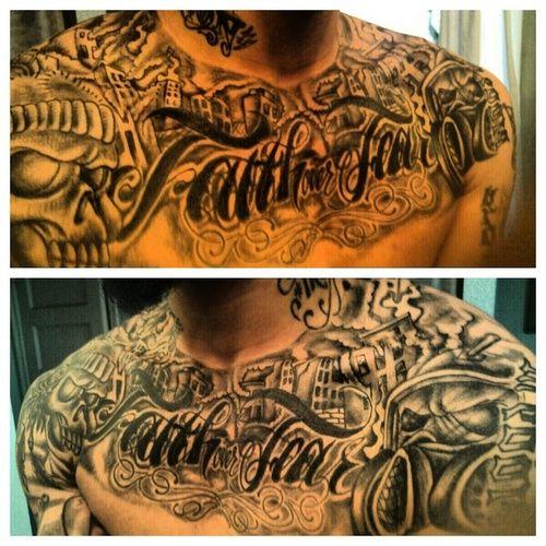 Tattoo Ideas Hood: 32 Best Faith Over Fear Tattoos For Men Images On