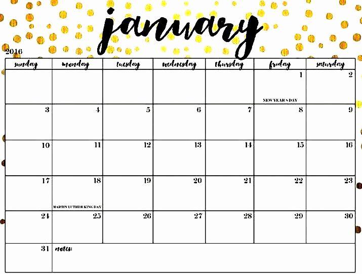 January 2019 Printable Calendar Cute January 2019 Calendar Blank Template | Free January 2019 Calendar