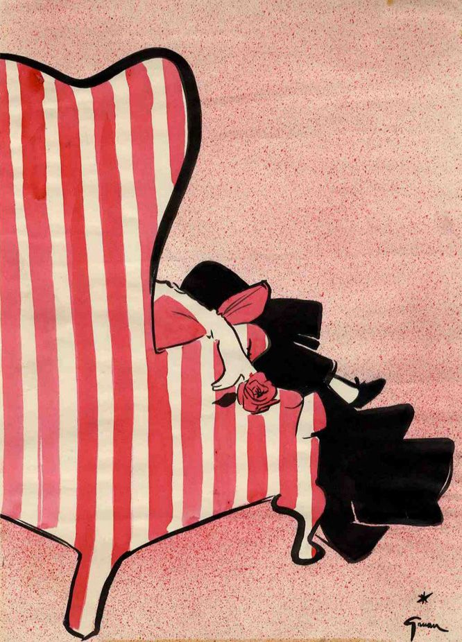 "Cover ""Int. Textiles"", 1952   by René Gruau René Gruau Rene Gruau #fashionillustration, #fashiondesign #fashion, #art, #illustration, #drawing, #painting, #ink, #vintage #ad #advertising #graphic #sketch #posters #moda #technical #classic #illustration #textile #vintage #graphicdesign #design #ladies #beauty #print #ReneGruau #Rene #Gruau"