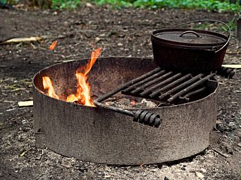Campfire cooking camping and picnic outings pinterest for How to cook in a dutch oven over a campfire