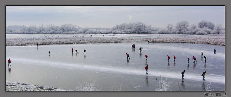 iceskating Oude Waal, Ooijpolder