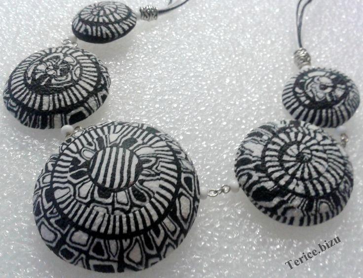 Polymeroví náhrdelník inspirovaný tutorialem Evy Haškové