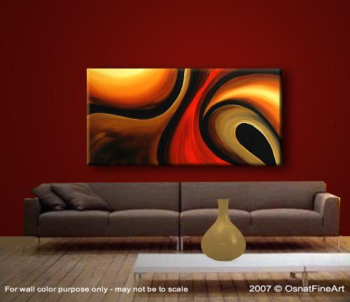 Modern Abstract Artwork | Original Abstract Art - Modern Art and Landscape Paintings by Osnat ...
