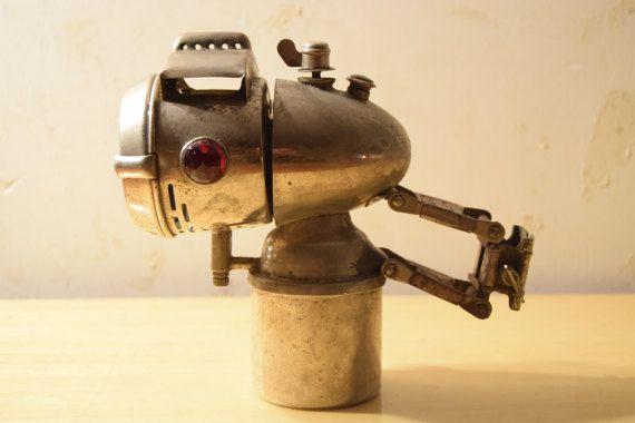 Vintage 30's 40's / Lampe au carbure de par AuPresDeMontToi sur Etsy