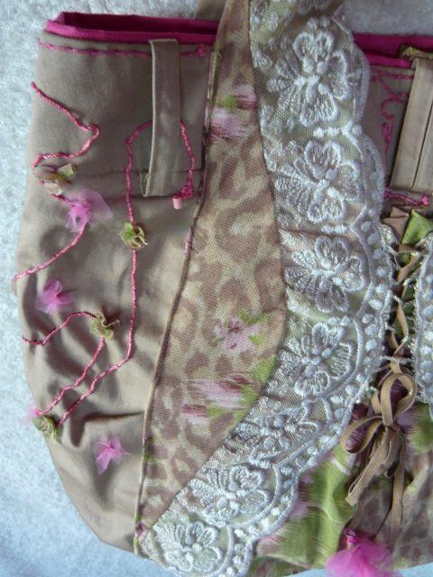 Romantikus női táska, Esküvő, Ruha, divat, cipő, Táska, Válltáska, oldaltáska, Meska
