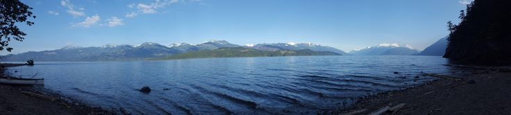 The veiw from my tent this morning (Harrison lake BC) #camping #hiking #outdoors #tent #outdoor #caravan #campsite #travel #fishing #survival #marmot http://bit.ly/2rMz615