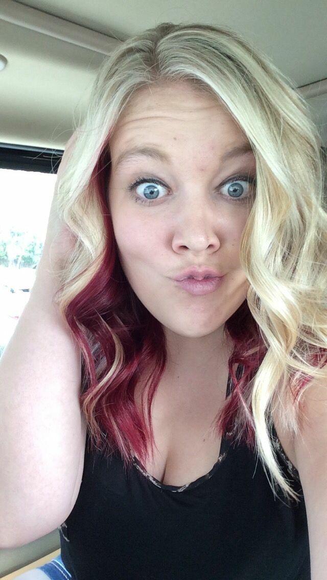 Blonde Red Undertone Peekaboo Hairdos In 2019