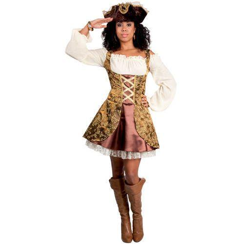 Damen-Kostüm Treasure Piratin, Gr. 40/42 - Pirat & Piratin, Musketier Kostüme nach Themen Kostüme & Verkleiden Produkte - Party-Discount.de