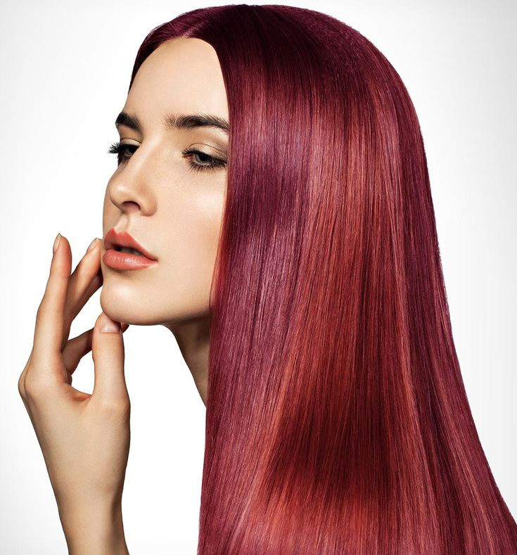 capelli sfumati rossi