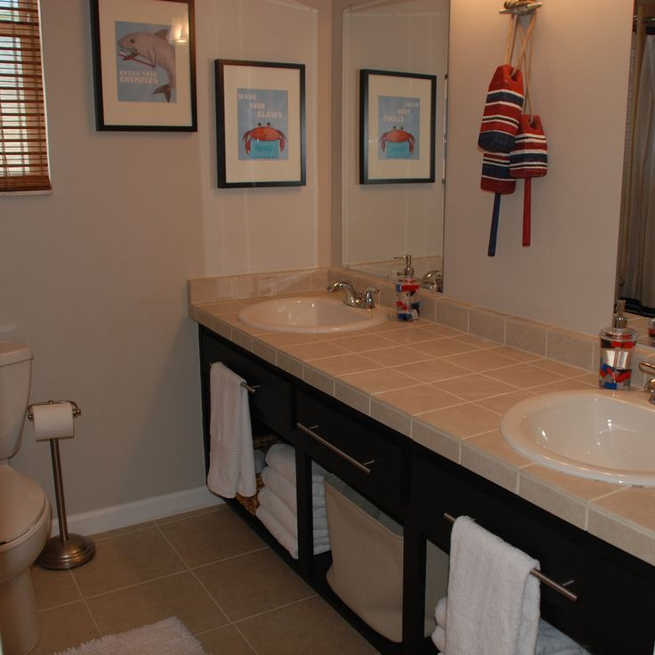Best Kids Bathrooms: 41 Best Images About Nautical/Beach Bathroom And Decor On