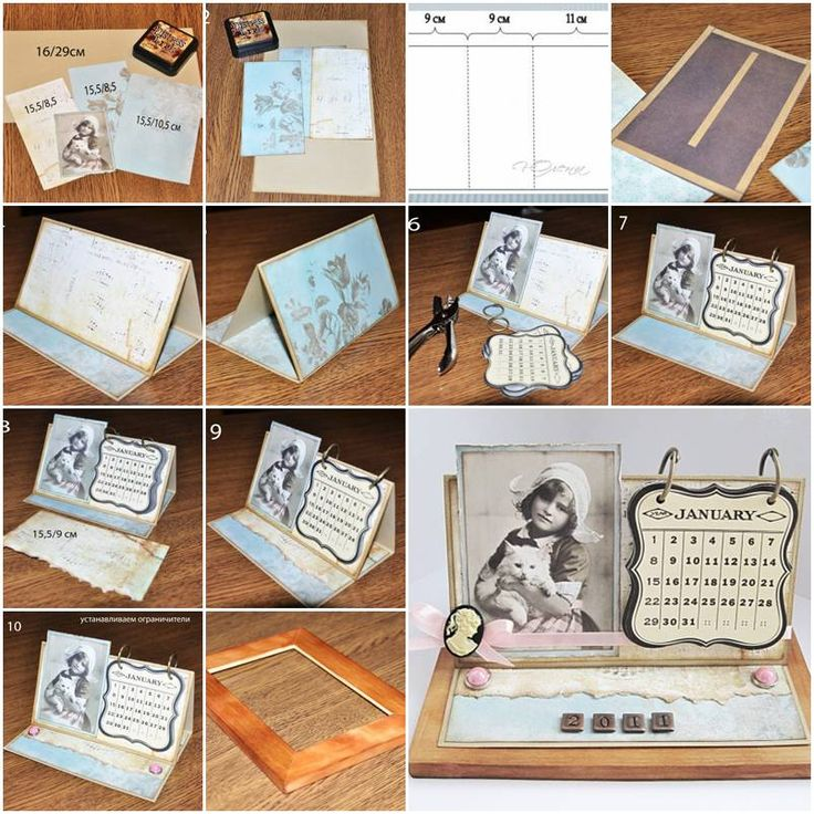 Handmade Calendar Tutorial : Best images about calendar cards on pinterest
