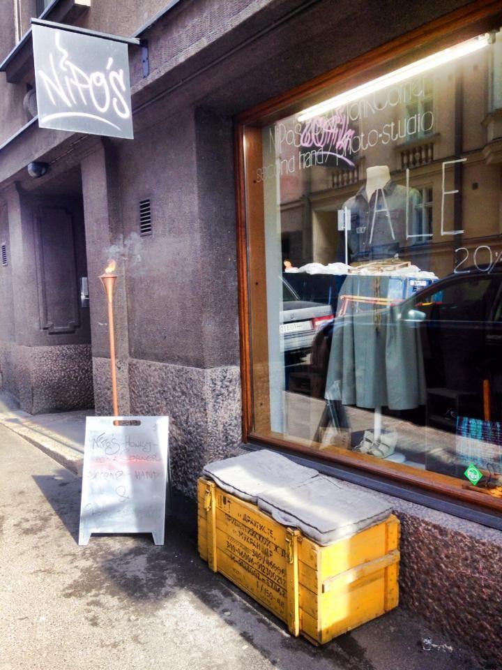 Nipo's Honky Tonk Corner Front of Shop in Helsinki, Finland. - Flow Styler Interview No 3 http://www.creativecarrot-coaching.com/