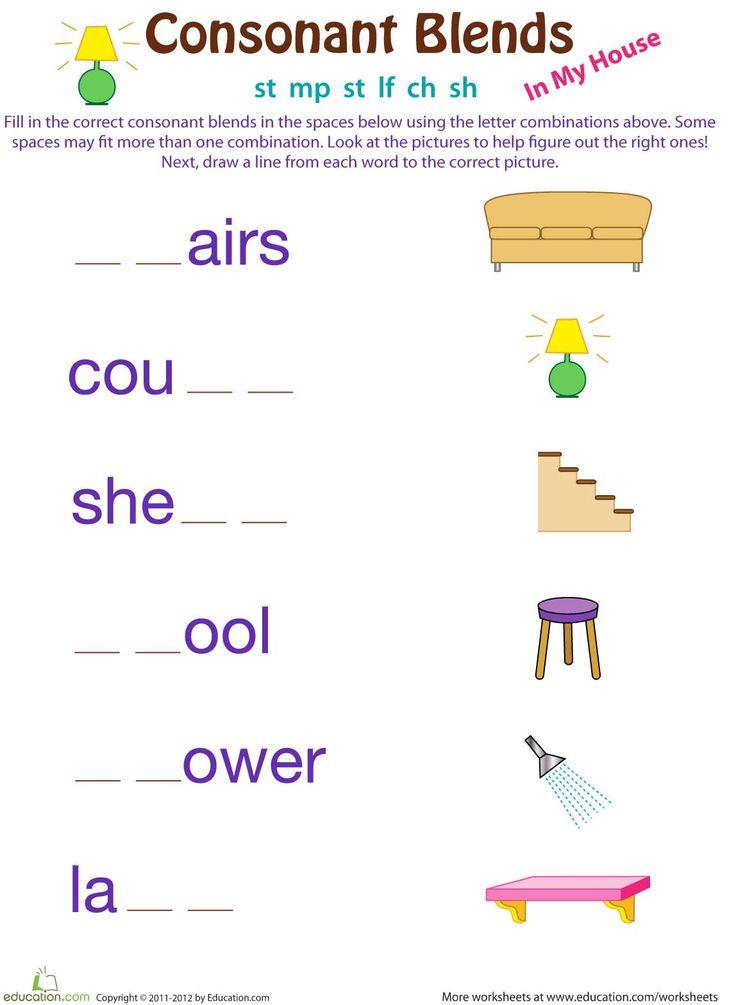 18 best 1st grade spelling images on pinterest grade spelling consonant blends worksheets and. Black Bedroom Furniture Sets. Home Design Ideas