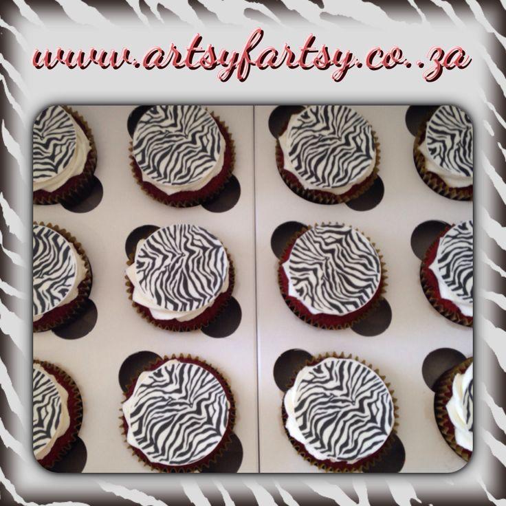 Zebra Skin Cupcakes
