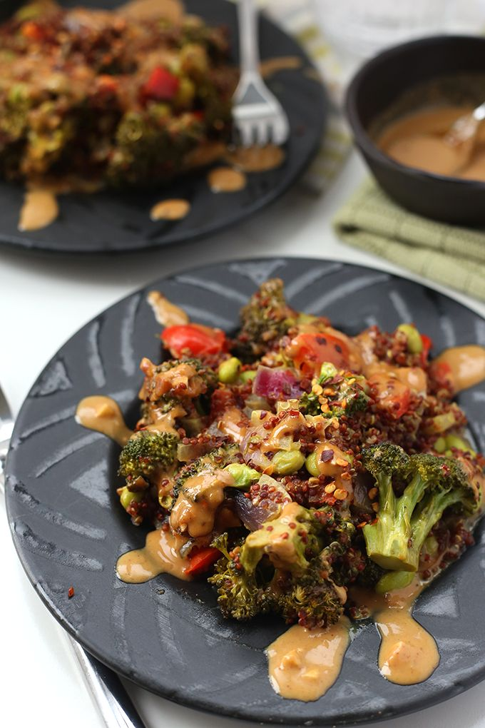 a quick and easy one pan meal this thai quinoa casserole. Black Bedroom Furniture Sets. Home Design Ideas