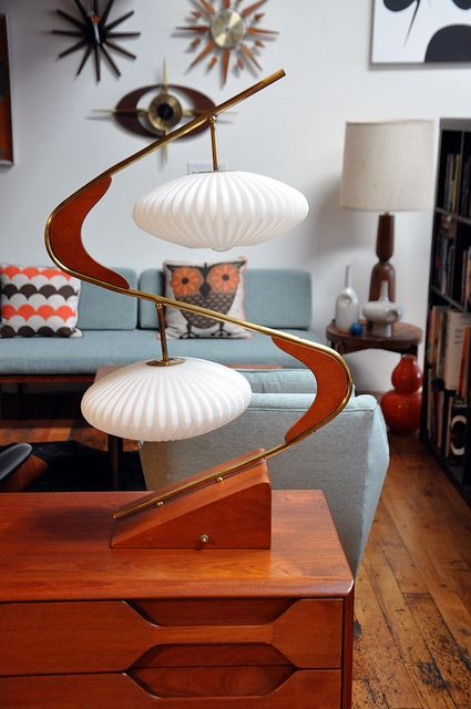 Mid-century modern style. What a lamp!