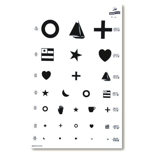 photo about Pediatric Eye Chart Printable known as Pin upon Snellen
