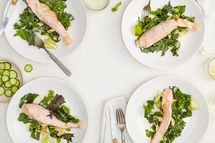 day three, dinner on the warming winter #goopdetox coconut poached salmon...we found our way around fish sauce (which we love but is not detox friendly) by sneaking in a few anchovies at the end.