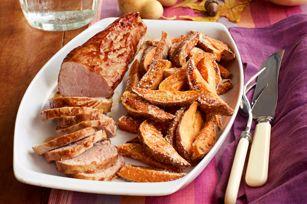 BBQ Pork Tenderloin & Sweet Potato Fries recipe