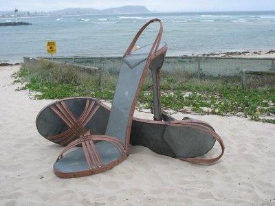 Giant high heels! Australian artist Gregory Roy Cope - Gold Coast, Queensland