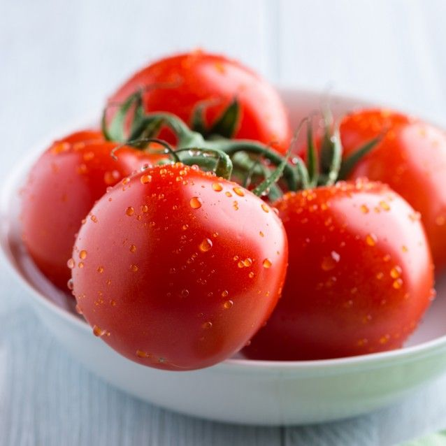 tomatoes (vitamins, lycopene for eye and skin health, helps reduce risk of cancer)