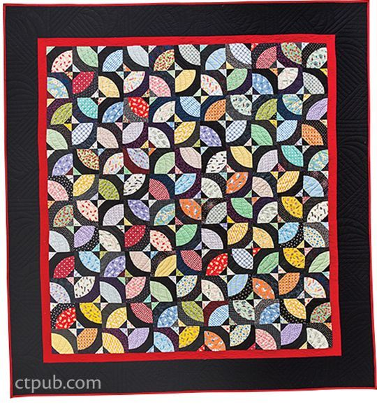 A New Spin on Drunkard's Path quilts by John Kubiniec