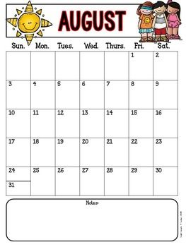 MONTHLY BEHAVIOR CHARTS & CALENDARS {EDITABLE} - TeachersPayTeachers.com