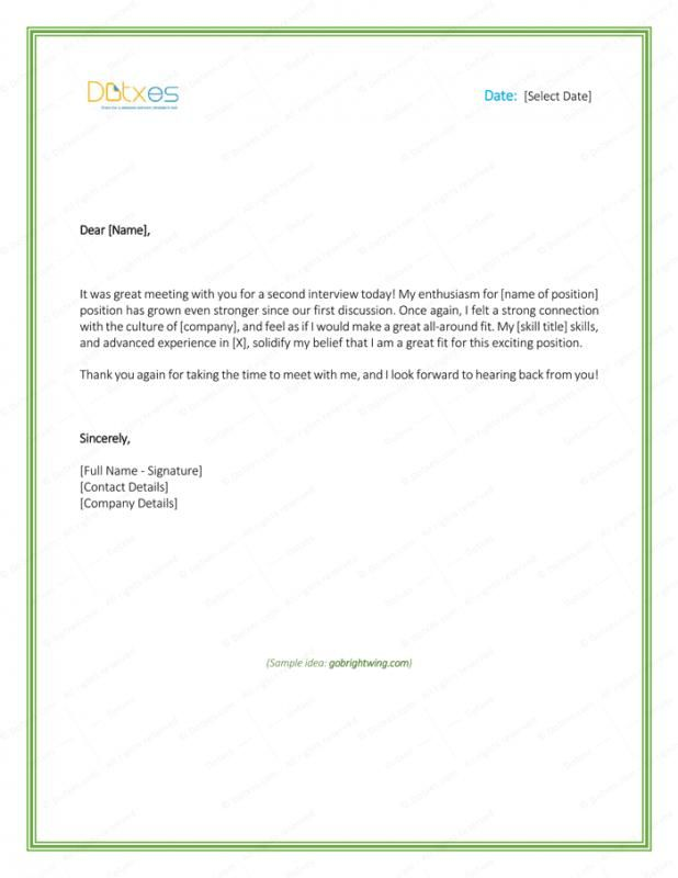 Free Sample Thank You Letter After Interview from i.pinimg.com