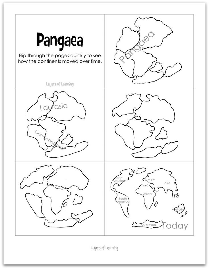 Pangea Flip Book and Continental Drift Scientific Theory Info