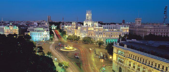 Madrid de noche. / Imagen cedida por: Comunidad de Madrid