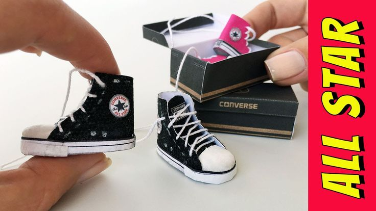 How to make an All Star shoes for Barbie and other dolls (Miniature)